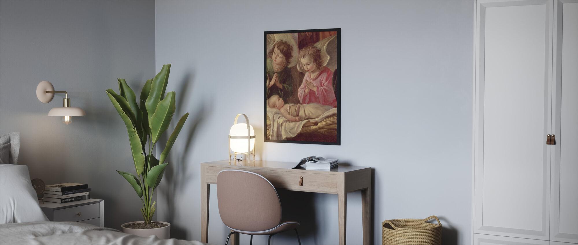 Adoration of the Shepherds - Antoine Le Nain - Framed print - Bedroom
