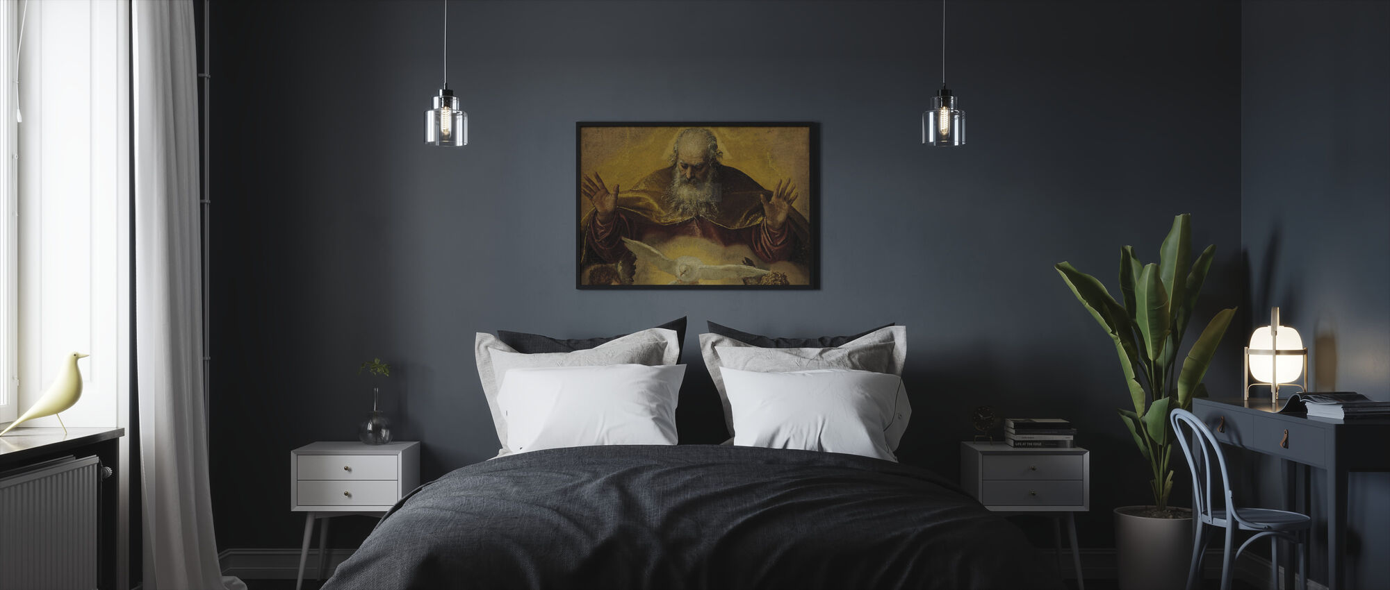 Eternal Father - Paolo Veronese - Framed print - Bedroom