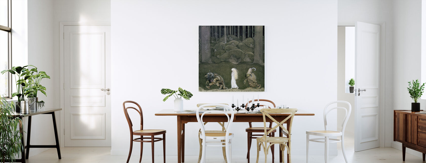 Princess and the Trolls - John Bauer - Canvas print - Kitchen