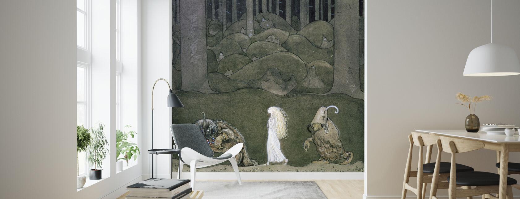 Princess and the Trolls - John Bauer - Wallpaper - Living Room