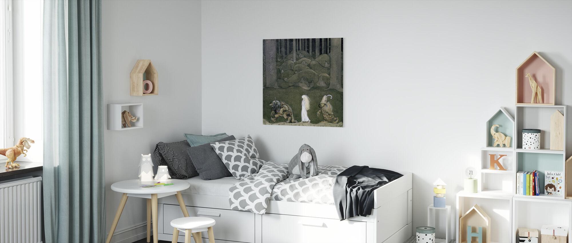 Prinses en de trollen - John Bauer - Canvas print - Kinderkamer