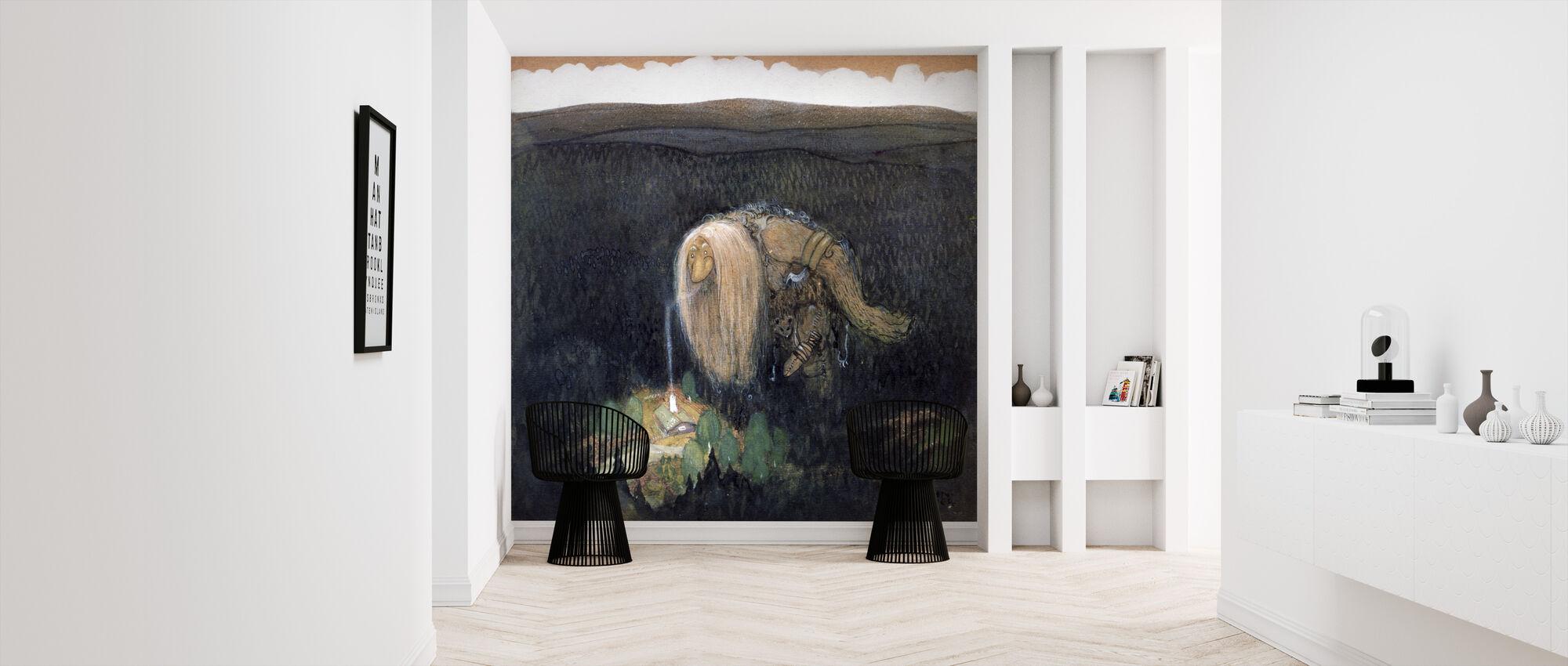 Skogstroll - John Bauer - Wallpaper - Hallway
