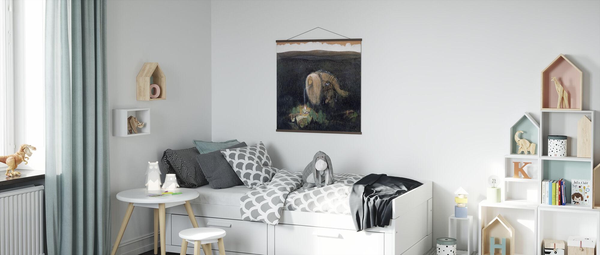 Skogstroll - John Bauer - Poster - Kids Room