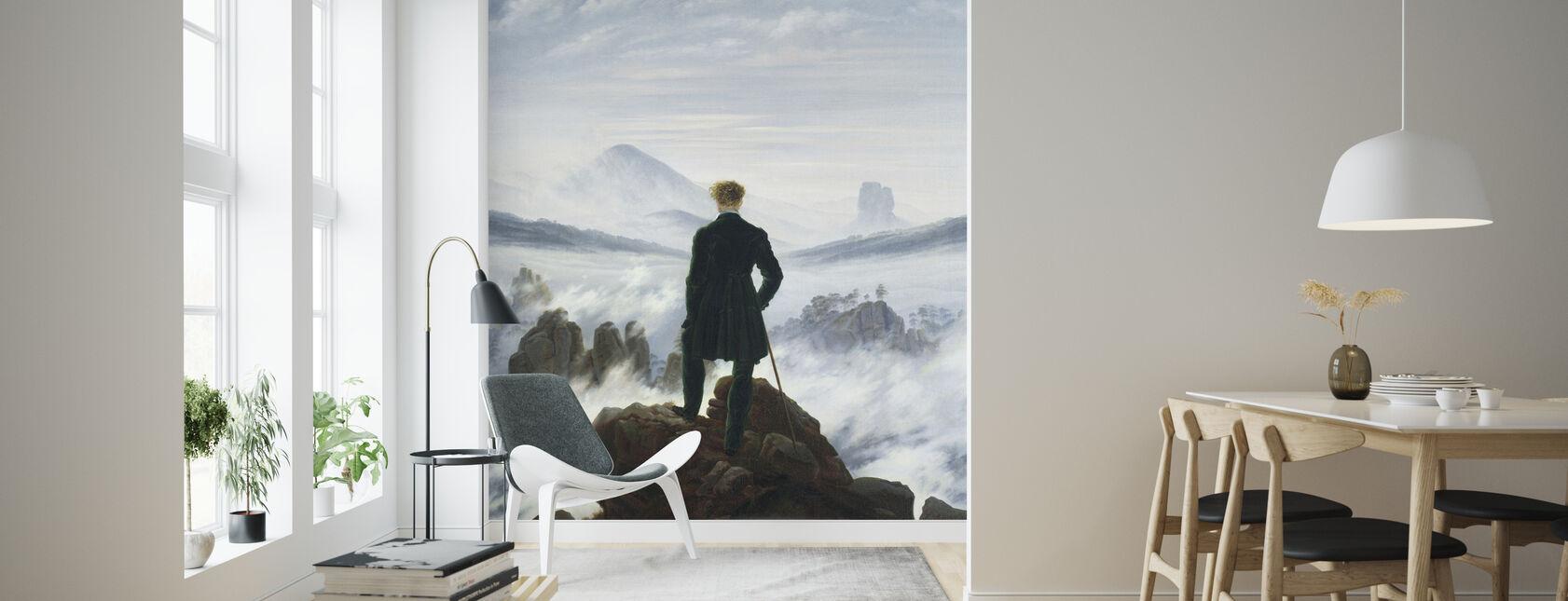 Wanderer above the Sea of Fog - Caspar Friedrich - Wallpaper - Living Room