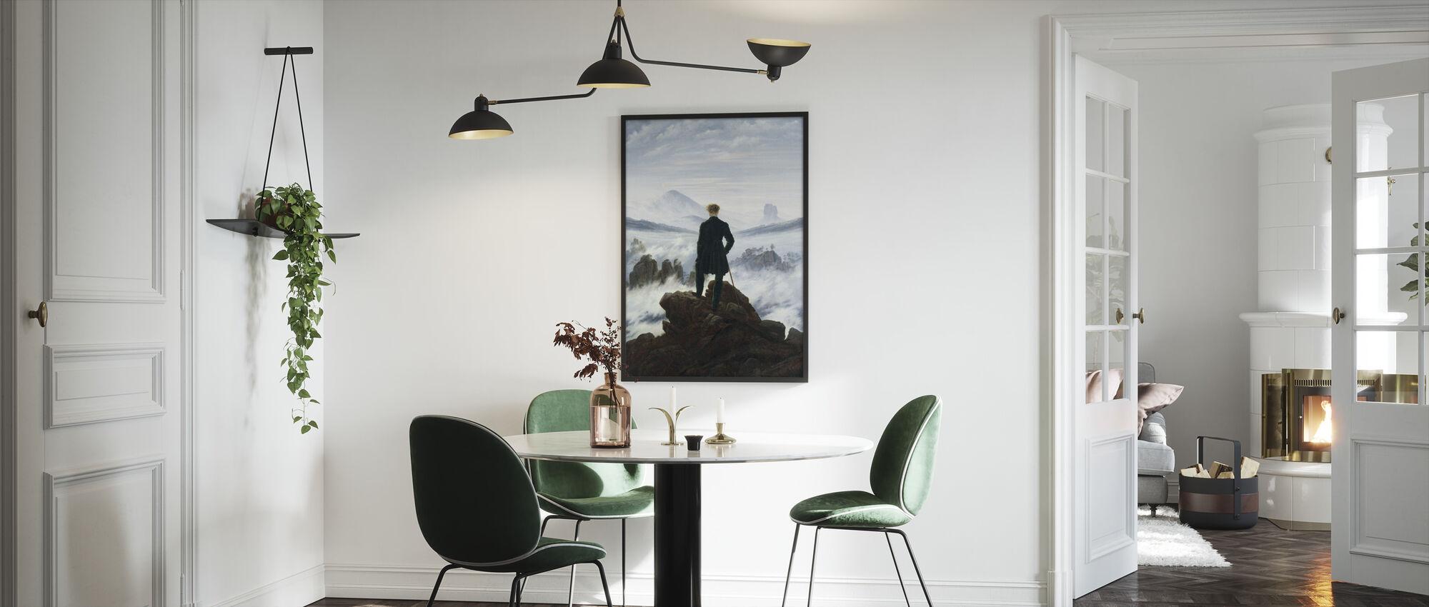 Wanderer boven de Mistenzee - Caspar Friedrich - Ingelijste print - Keuken