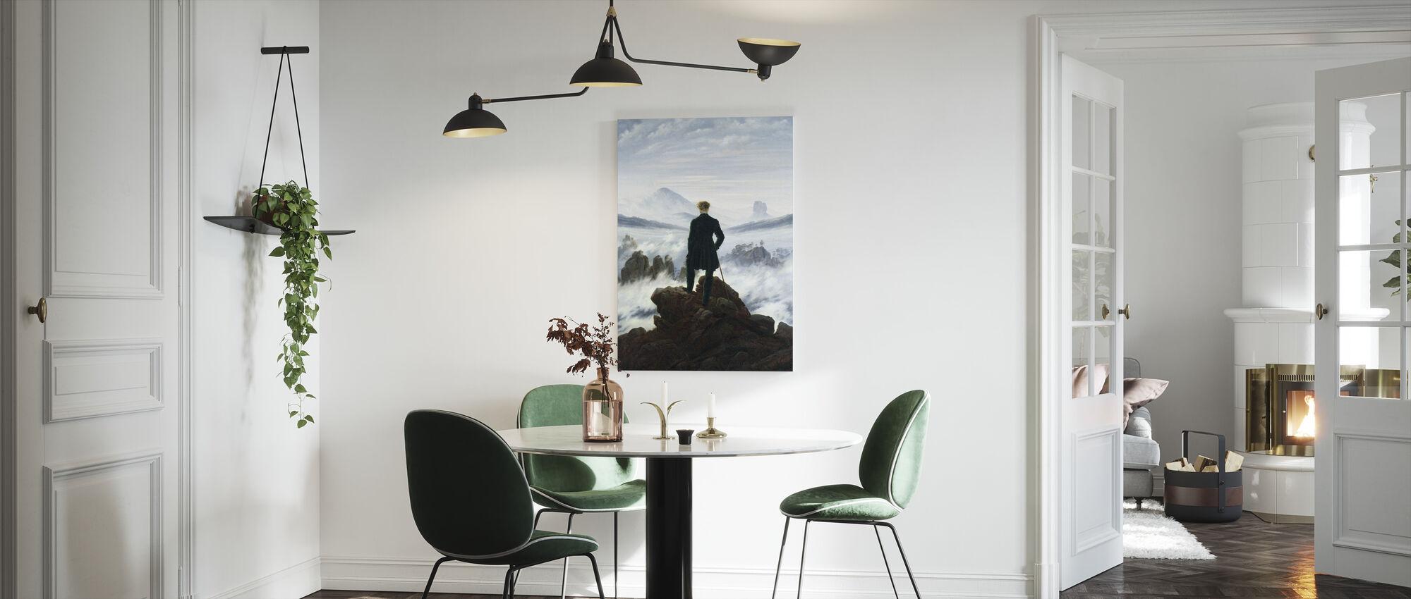 Vandrare ovanför dimman havet - Caspar Friedrich - Canvastavla - Kök