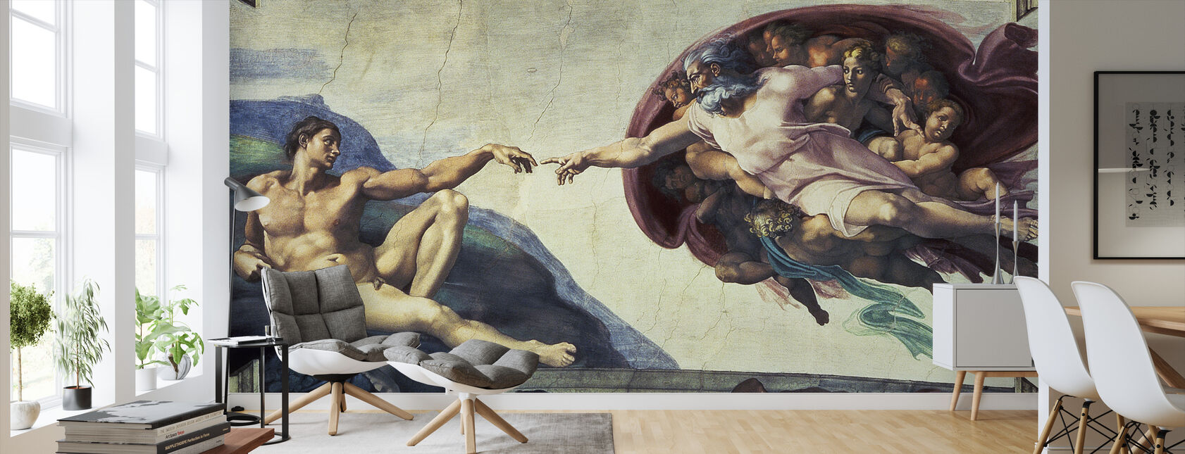 Creation of Adam - Michelangelo Buonarroti - Wallpaper - Living Room