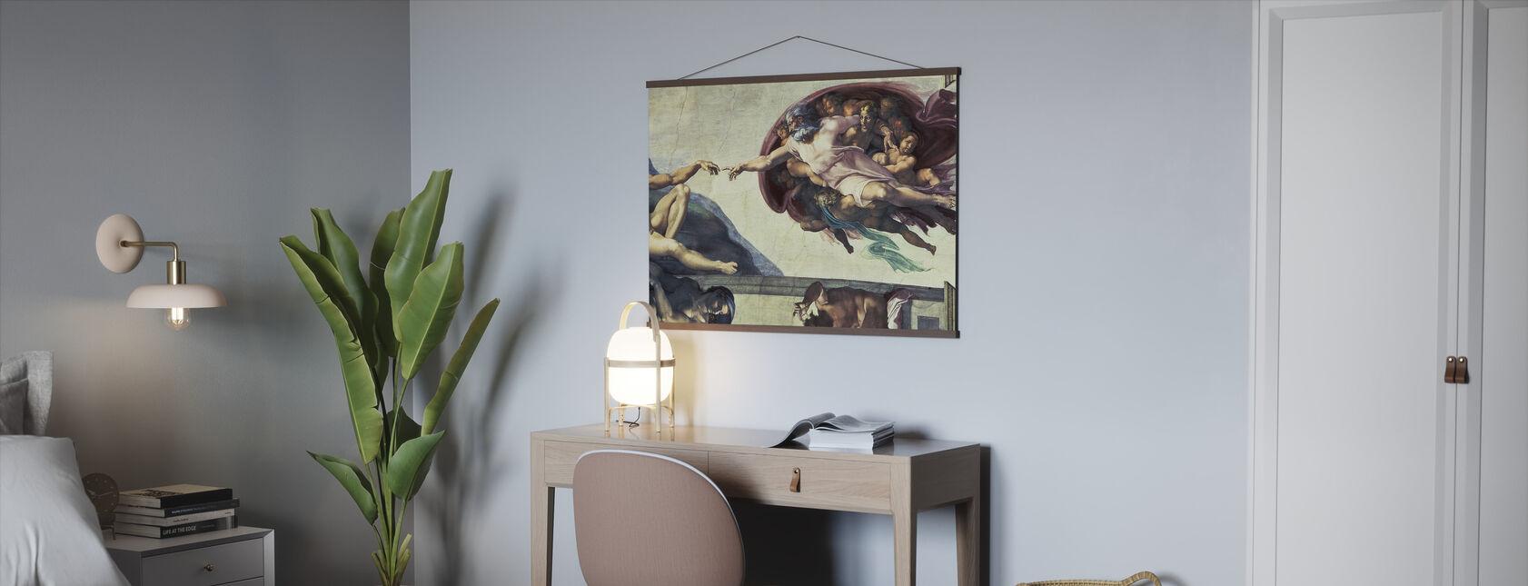Opprettelse av Adam - Michelangelo Buonarroti - Plakat - Kontor