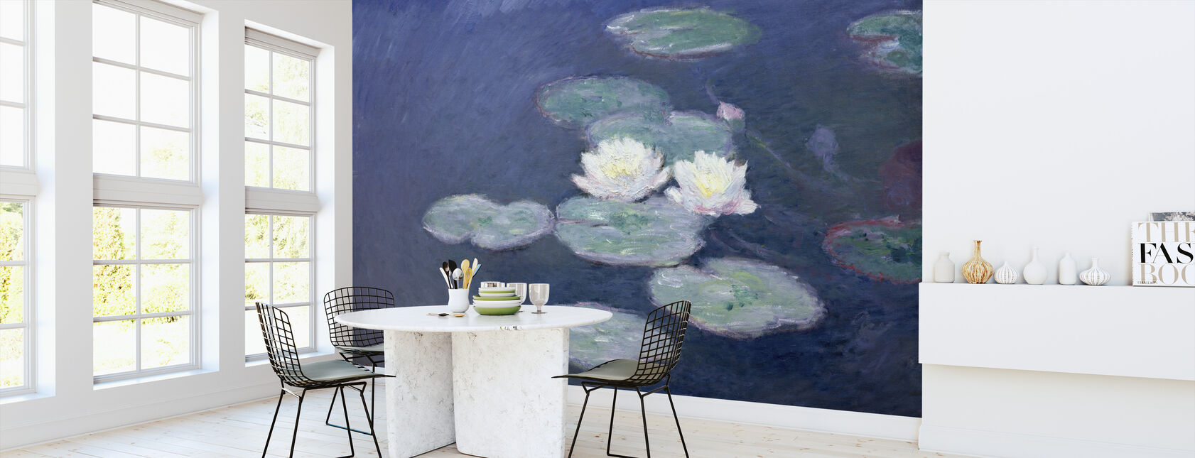 Waterlilies - Claude Monet - Wallpaper - Kitchen