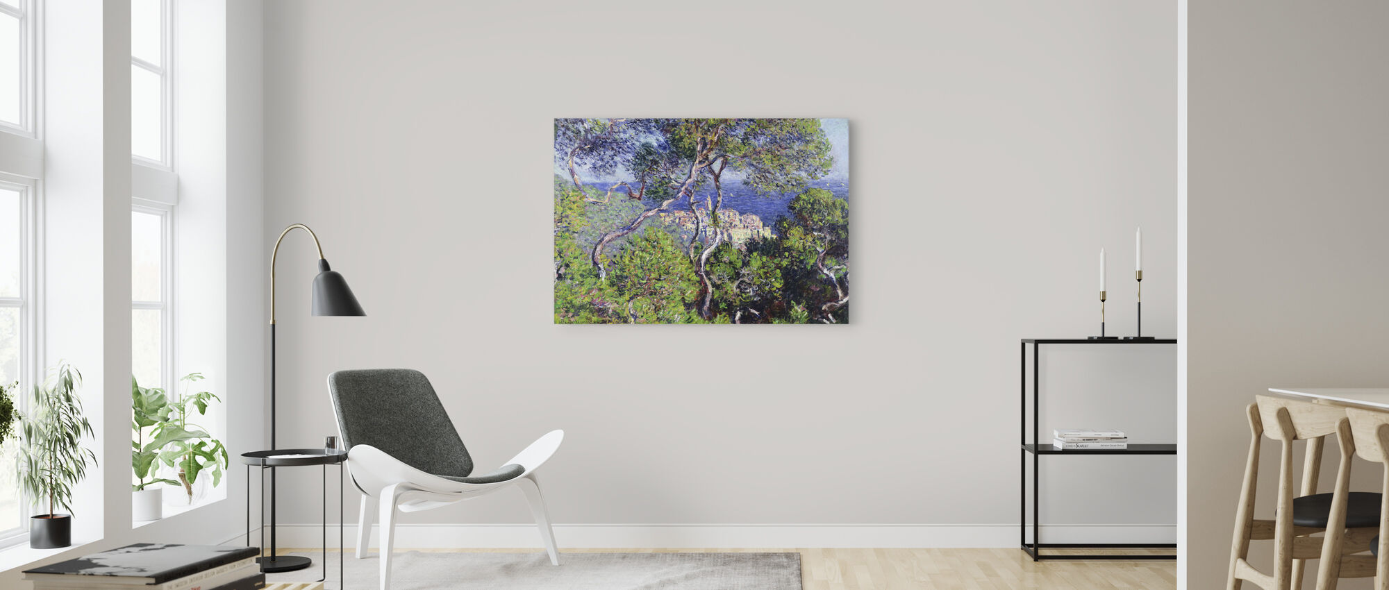 Bordighera -  Claude Monet - Canvas print - Living Room