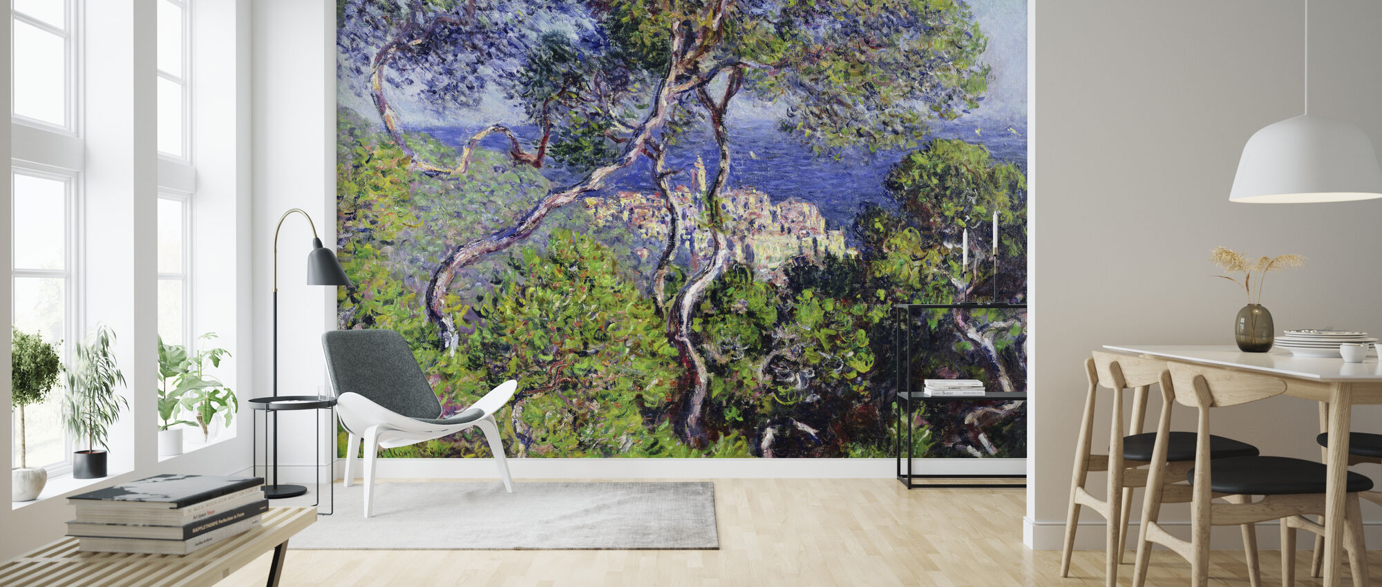 Bordighera -  Claude Monet - Behang - Woonkamer
