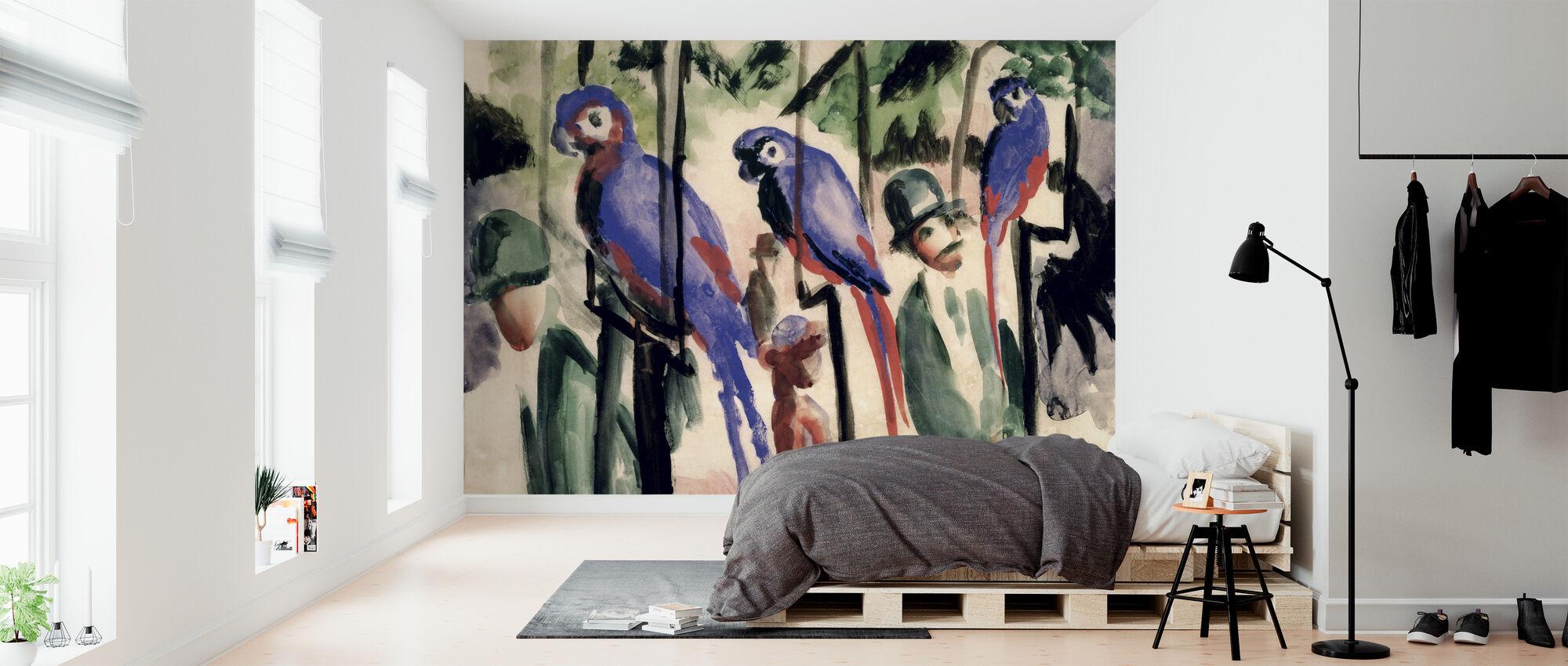 Blue Parrots - August Macke – Fototapete nach Maß – Photowall