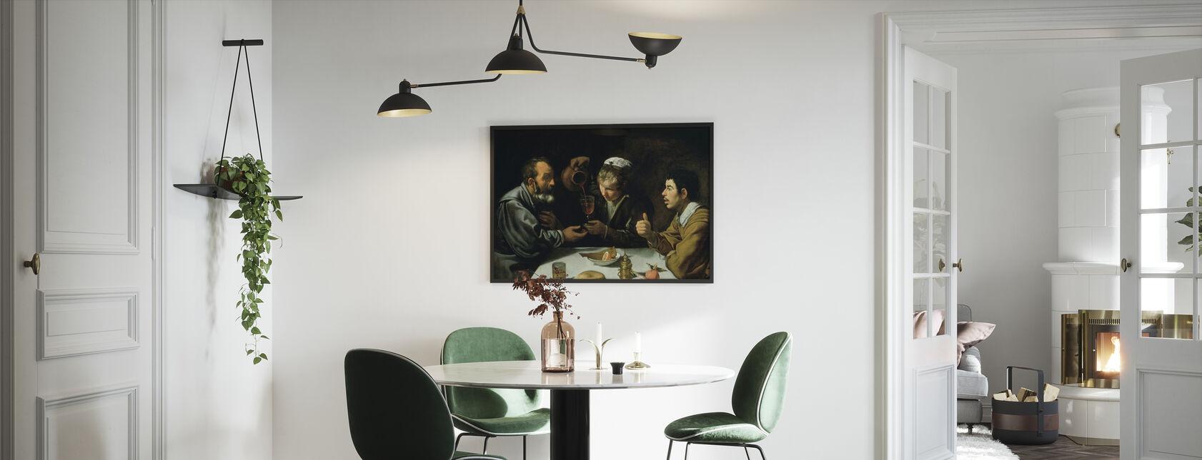 Lunch - Diego Velasquez - Framed print - Kitchen