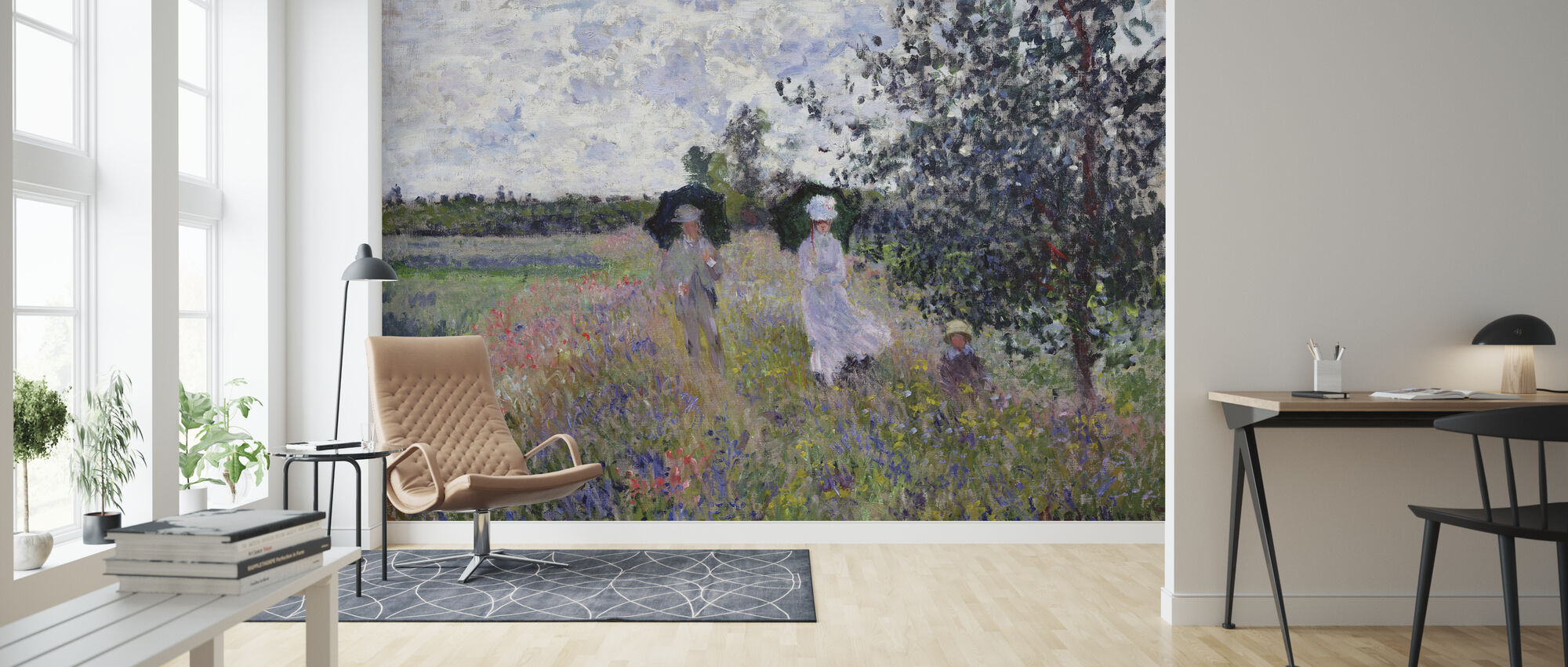 Promenade - Claude Monet - Wallpaper - Living Room