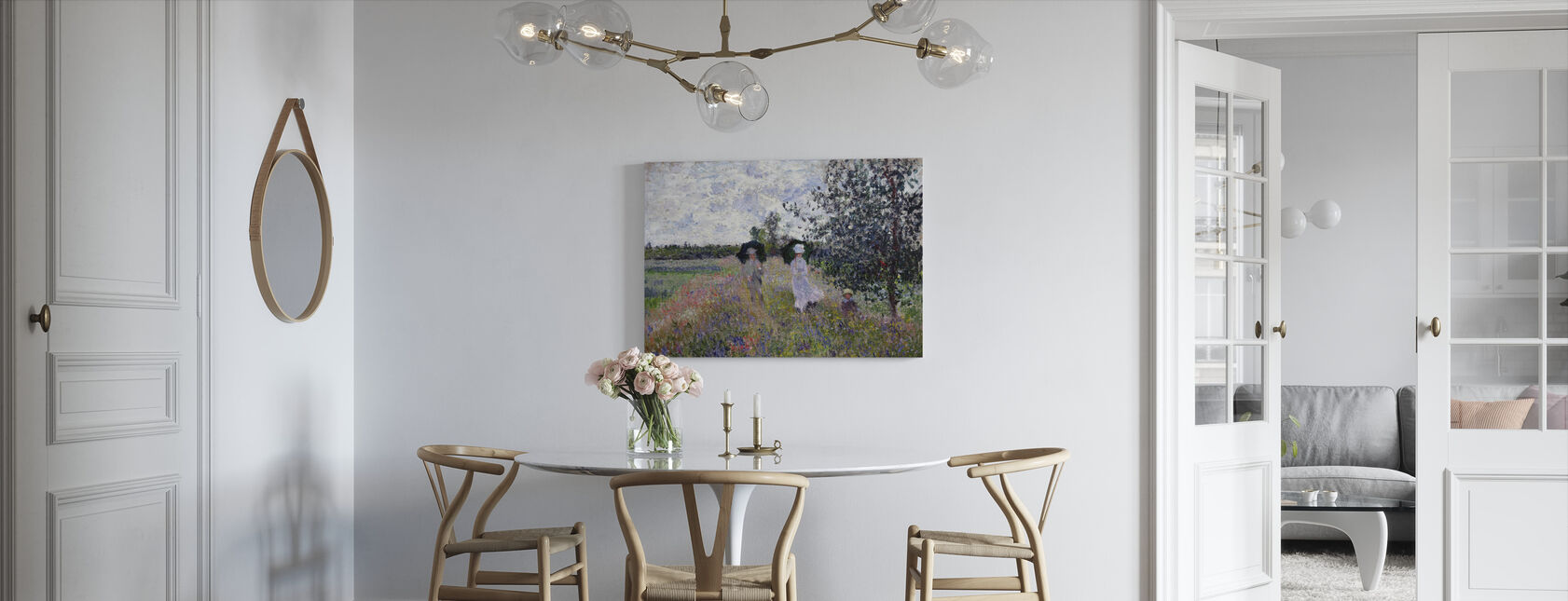 Promenade - Claude Monet - Canvas print - Kitchen