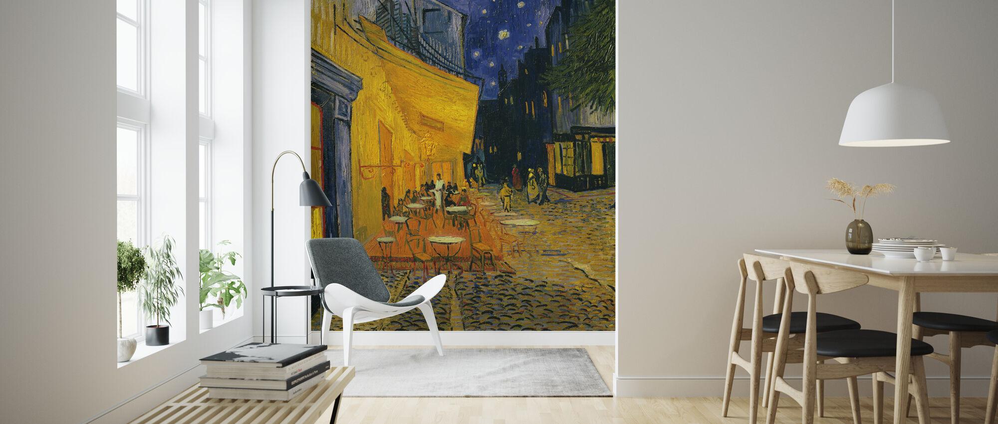 Cafe Terrace - Vincent van Gogh - Wallpaper - Living Room