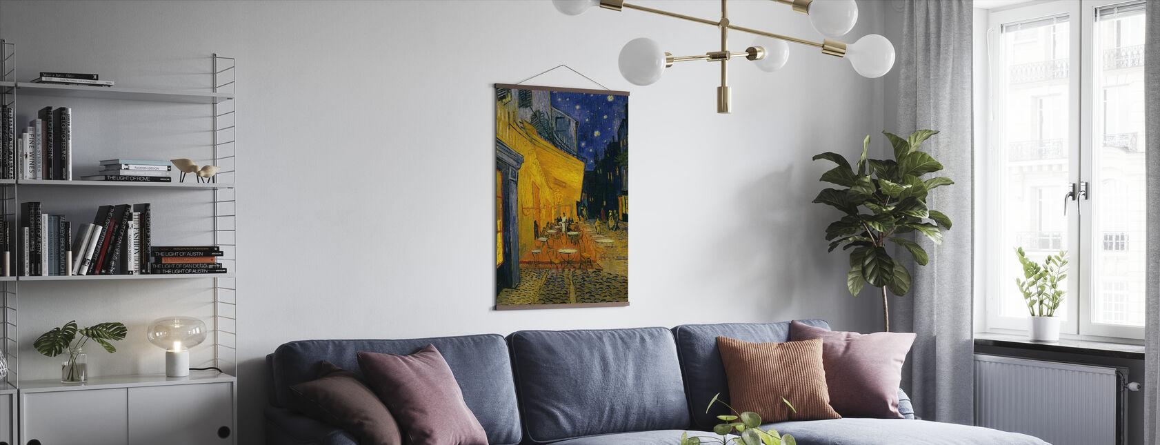 Cafe Terrace - Vincent van Gogh - Poster - Living Room