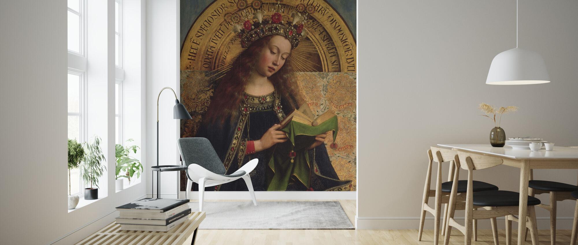 Virgin Mary - Hubert Eyck - Wallpaper - Living Room