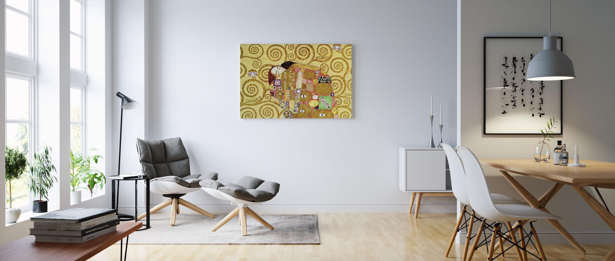Fulfilment - Gustav Klimt - Canvas print - Living Room