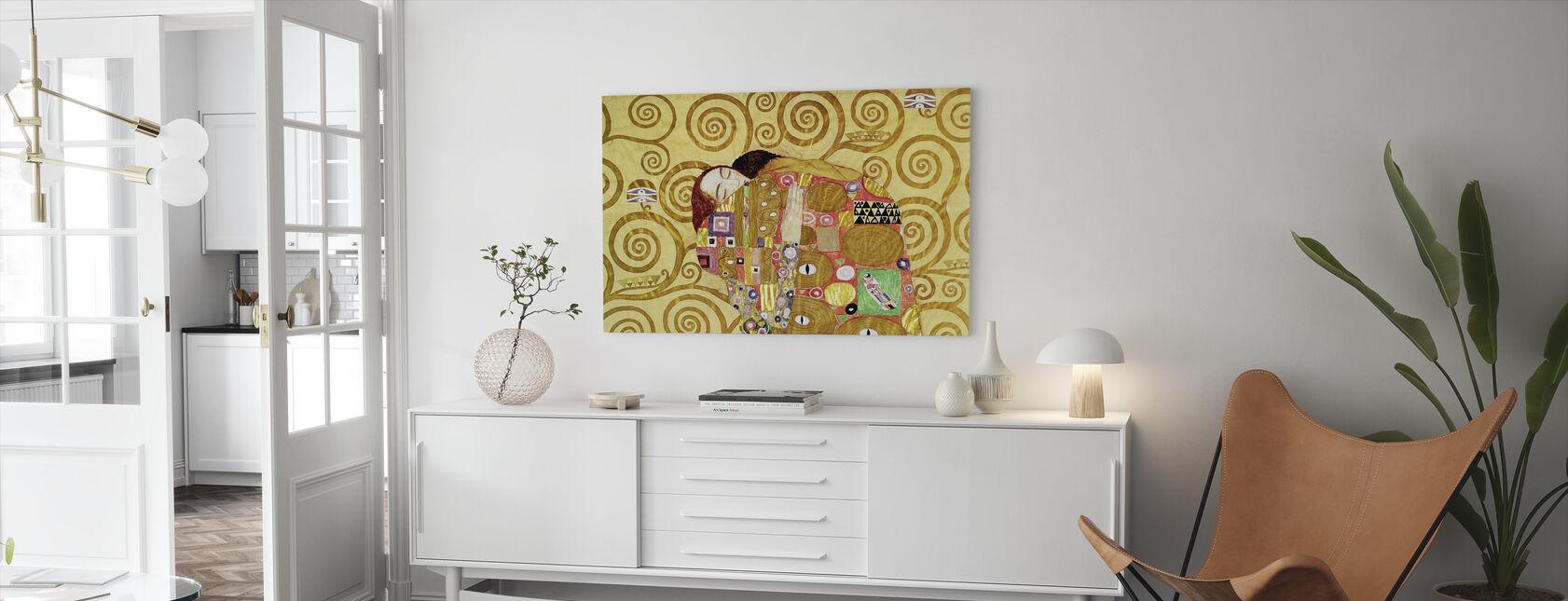 Vervulling - Gustav Klimt - Canvas print - Woonkamer
