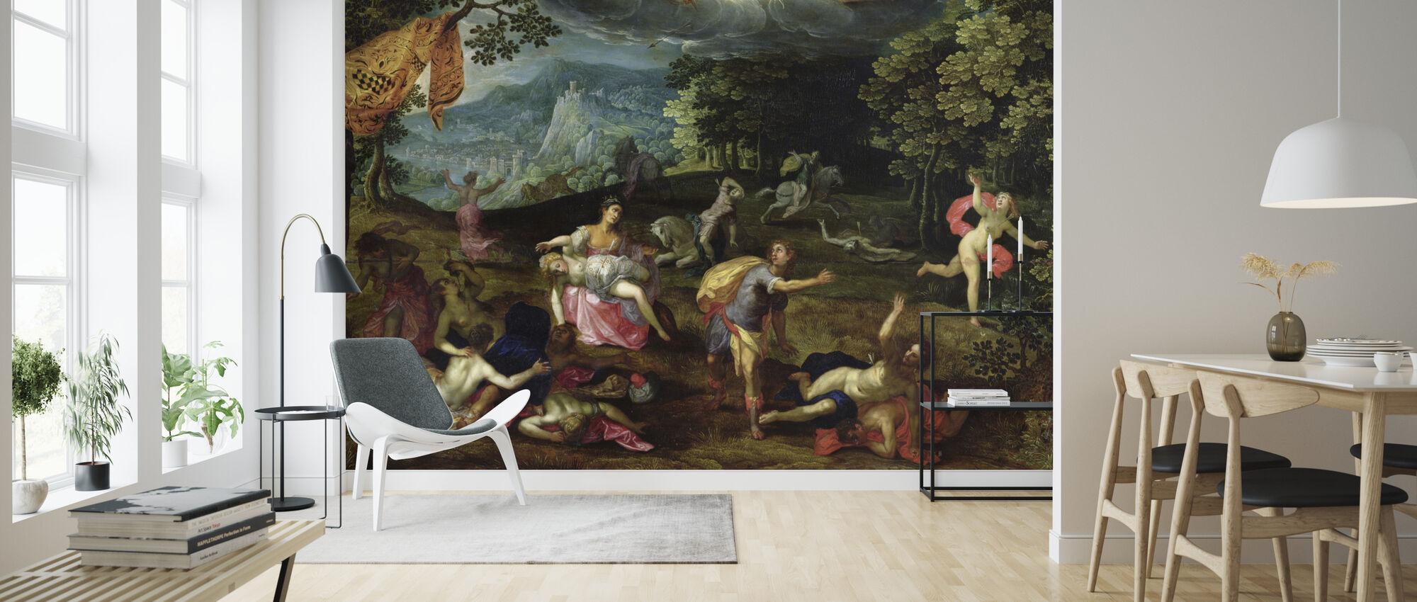 Punishment of Niobe - Tobias Verhaecht - Wallpaper - Living Room