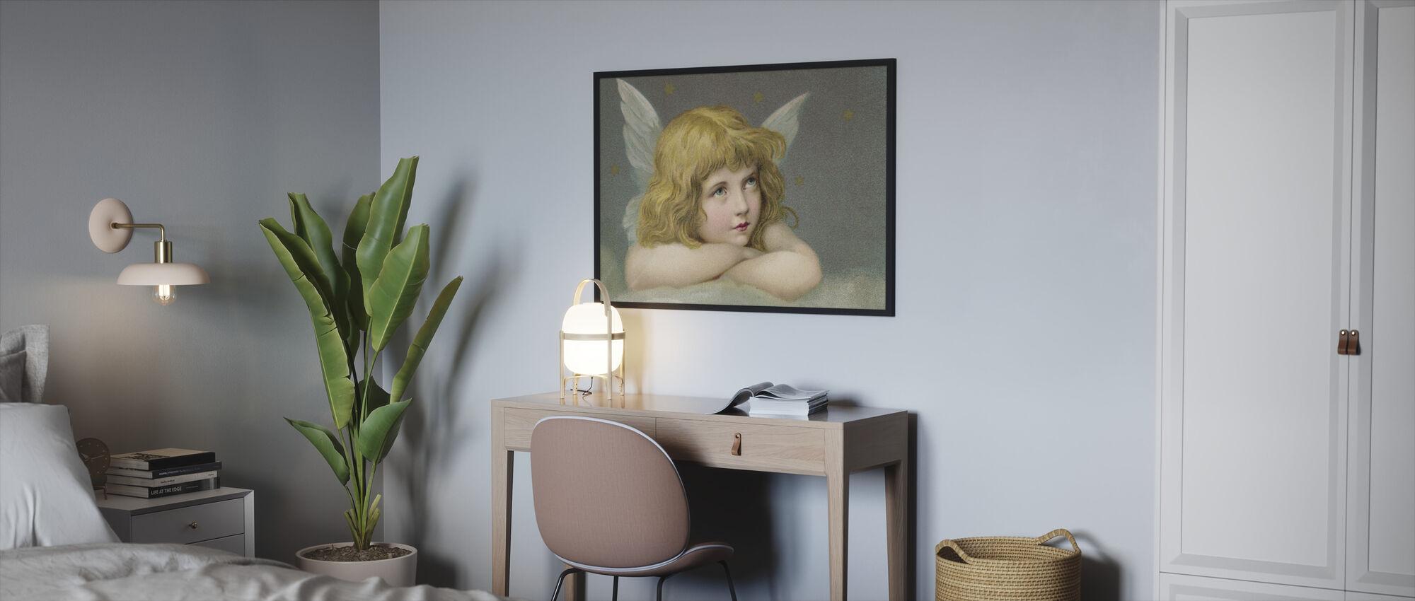 Kleine Engel - Ingelijste print - Slaapkamer