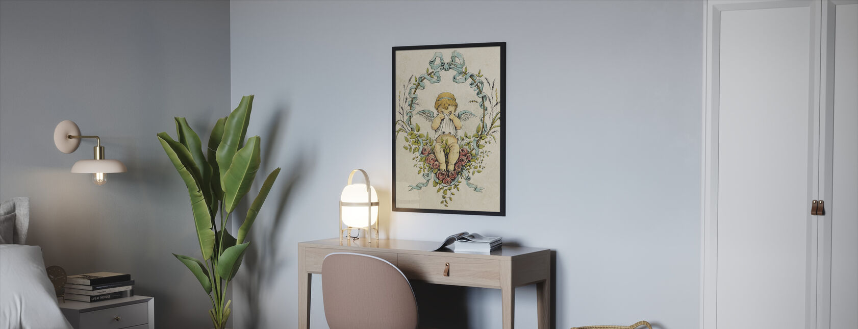 Weeping Cupid - Framed print - Bedroom