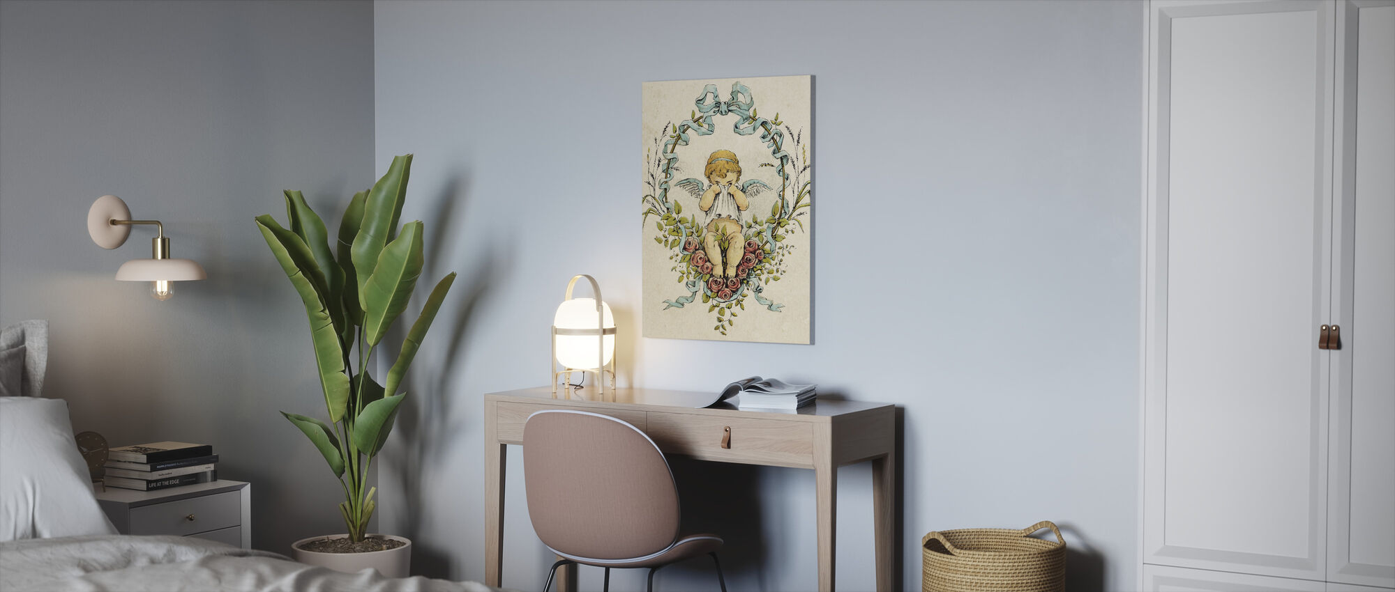 Weeping Cupid - Canvas print - Office