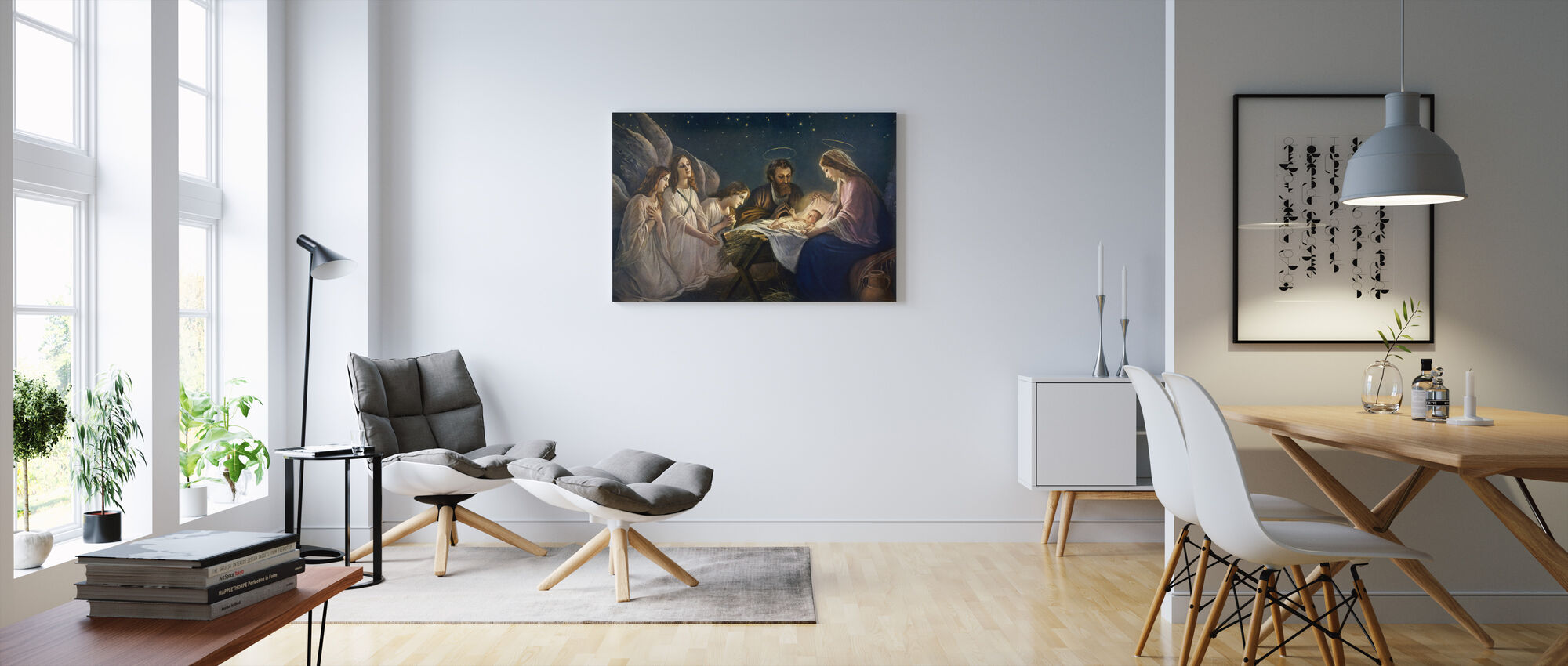 Joseph and Mary - Canvas print - Living Room