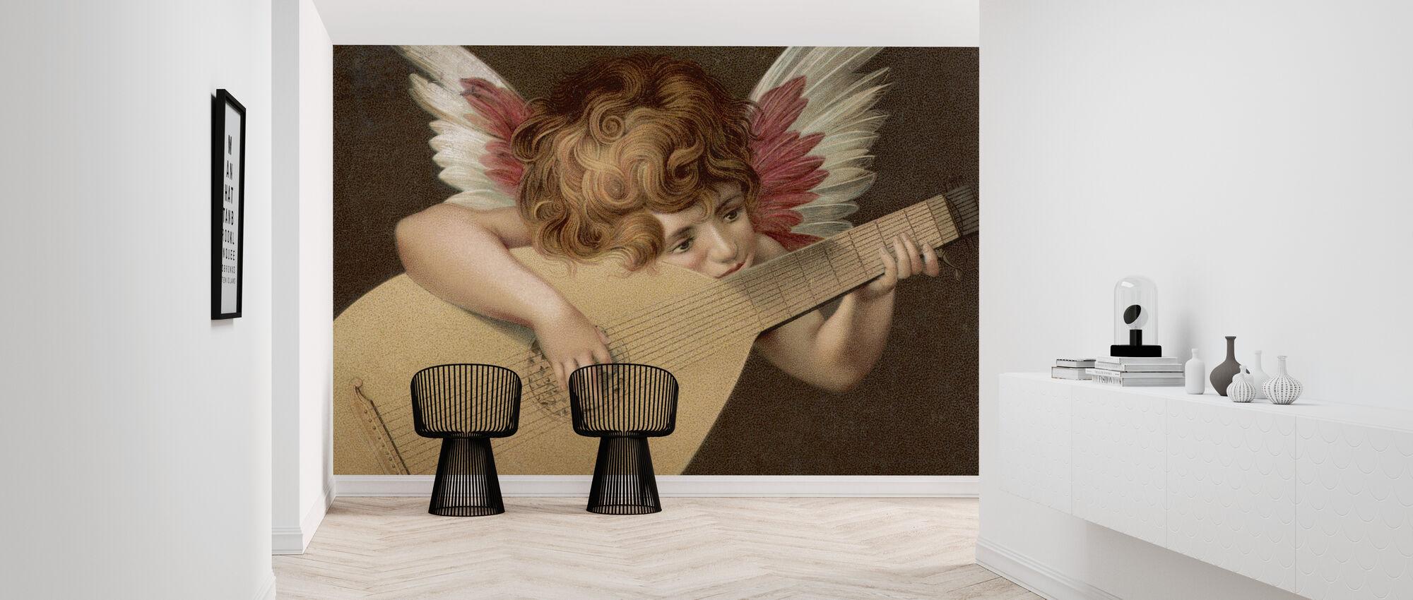Unknown Artist - Puto Playing Guitar - Wallpaper - Hallway