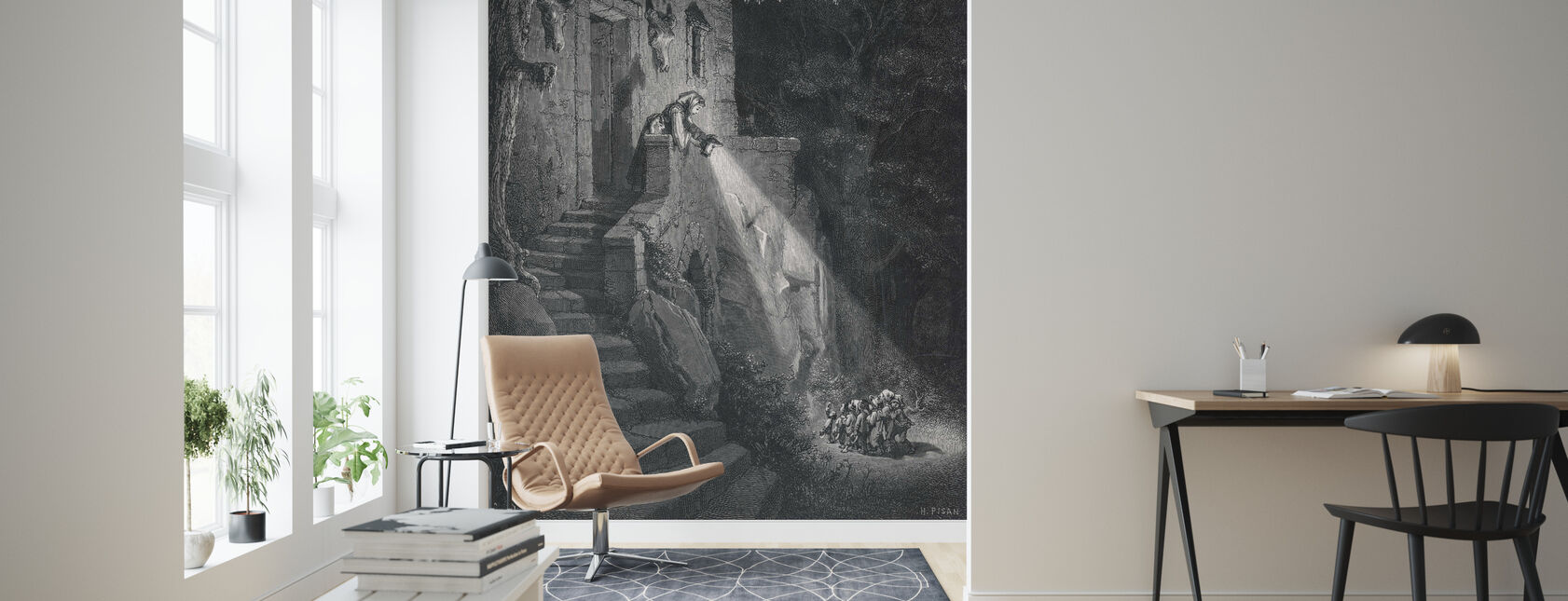 Gustave Dore - Ogre in the Forest - Wallpaper - Living Room