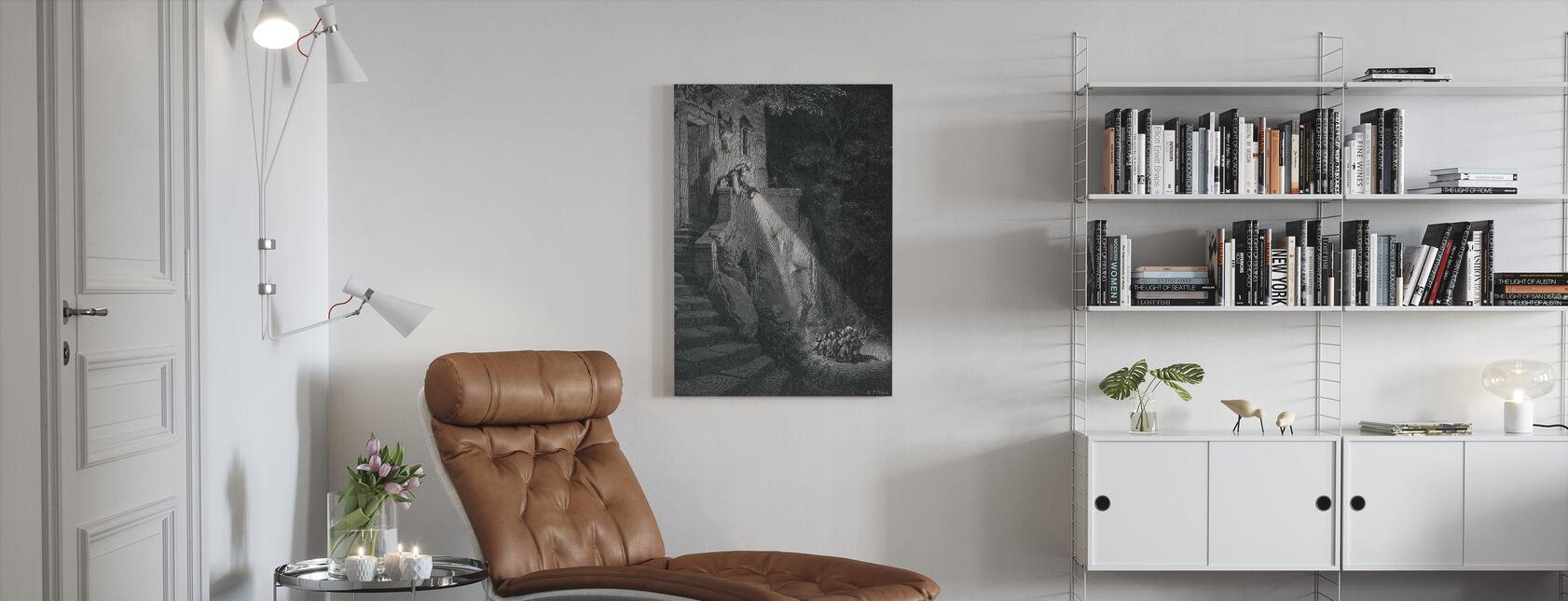 Gustave Dore - Ogre w lesie - Obraz na płótnie - Pokój dzienny