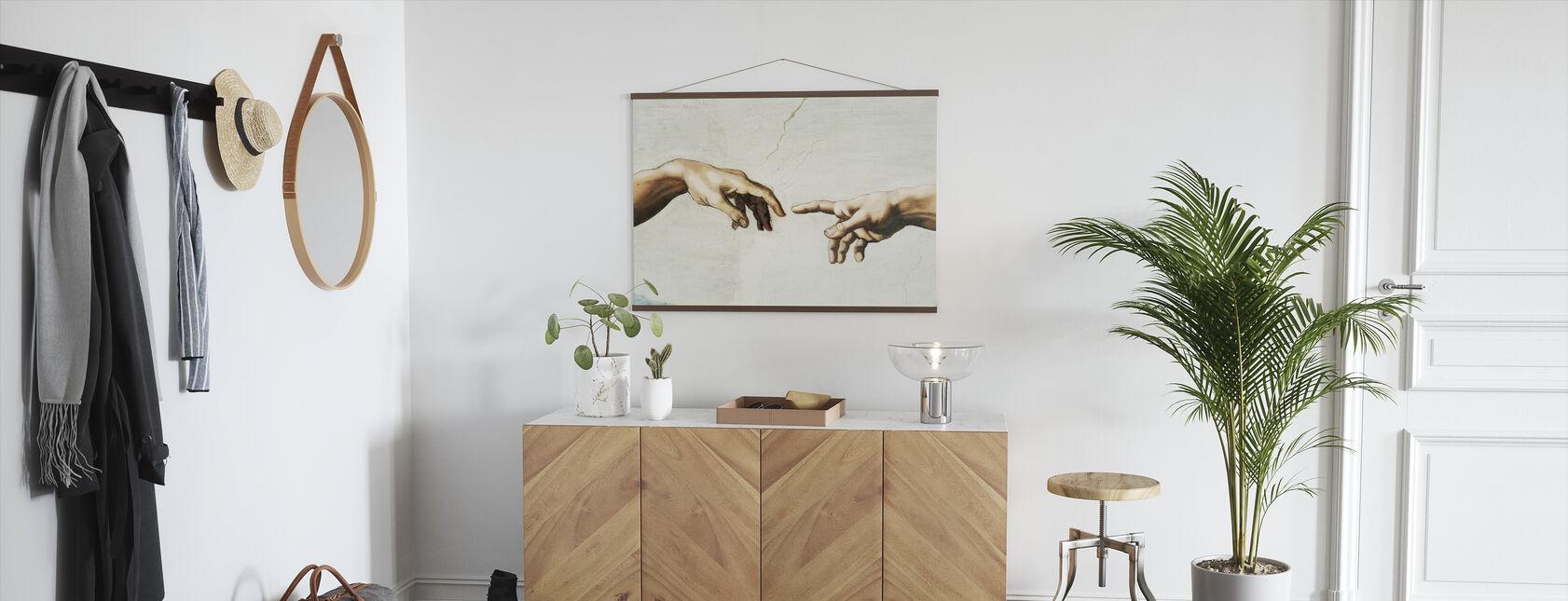 Michelangelo Buonarroti - Creation of Adam - Poster - Hallway