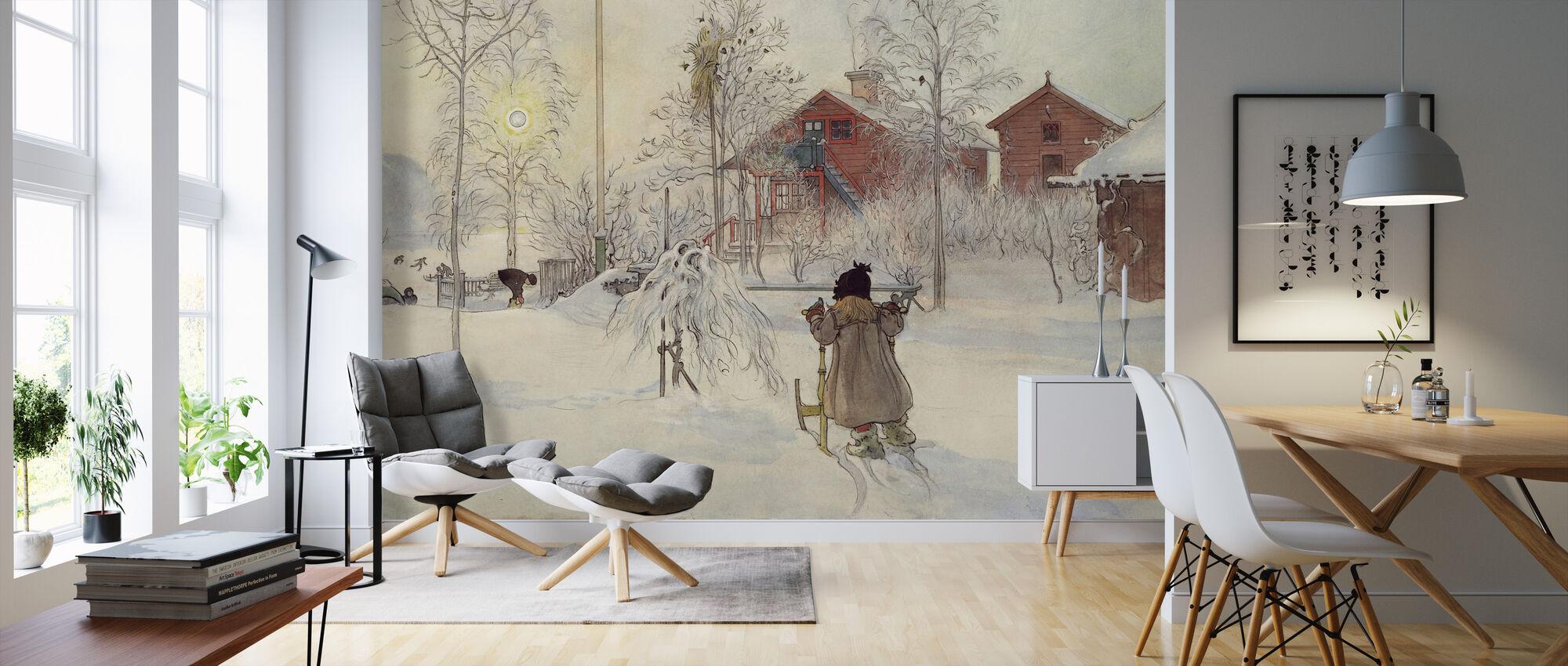 Carl Larsson - Tuin en Brugse Huis - Behang - Woonkamer