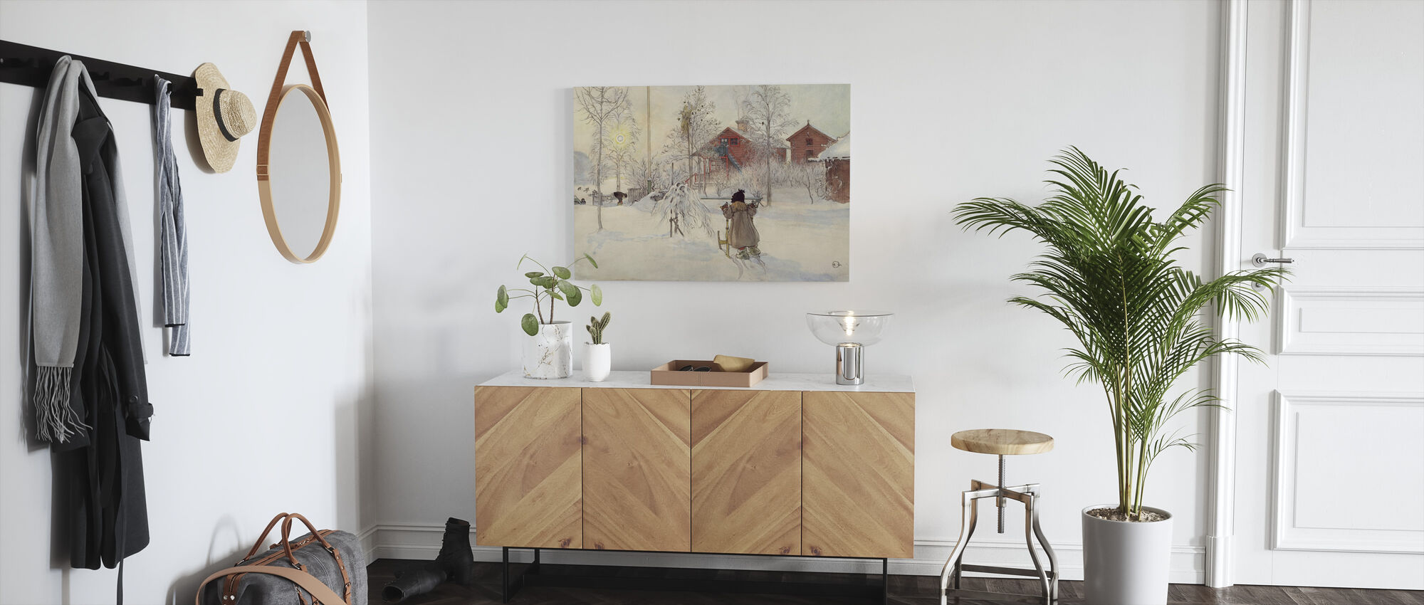 Carl Larsson - Tuin en Brugse Huis - Canvas print - Gang
