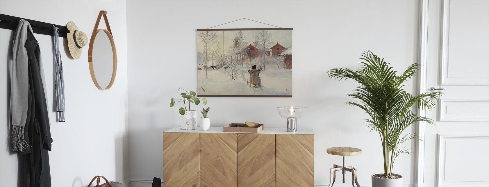 Carl Larsson - Garden and Bruges House - Poster - Hallway
