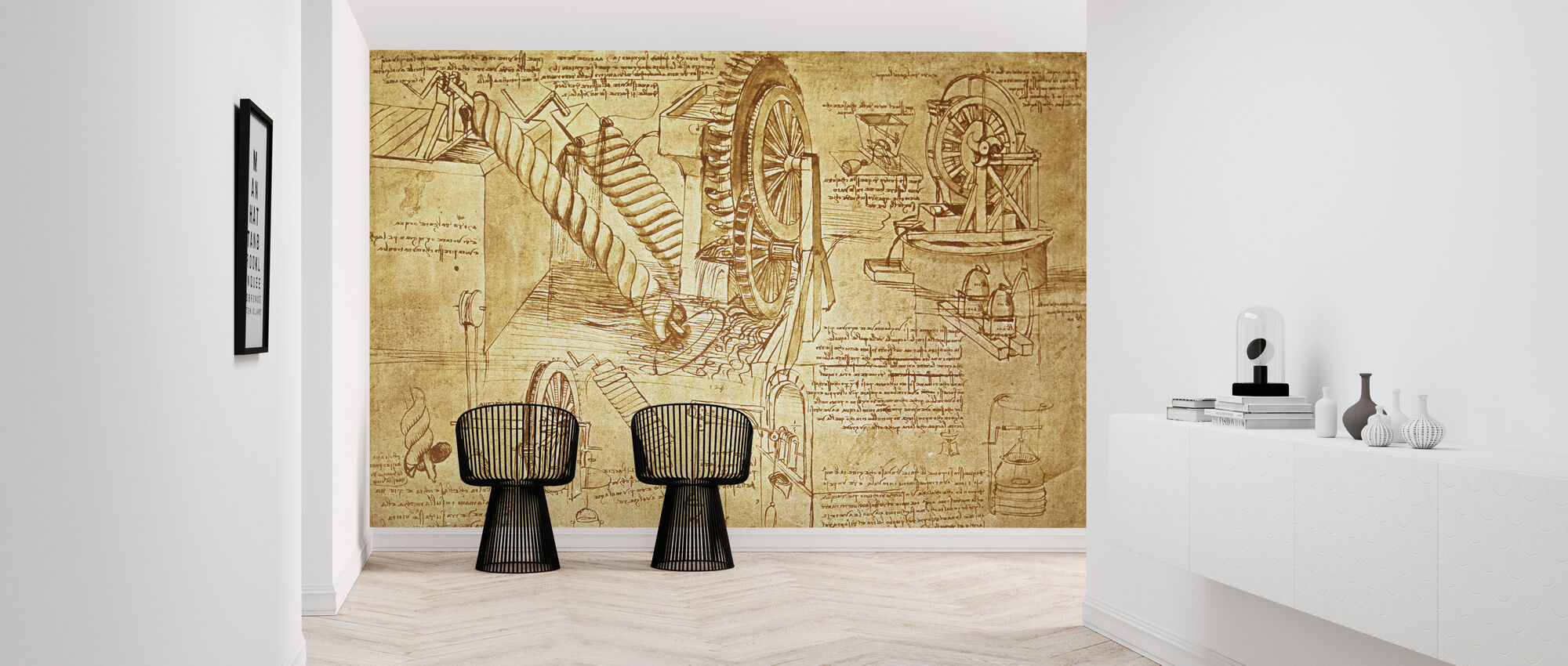 Leonardo da Vinci - Atlanticus - Papier peint - Entrée