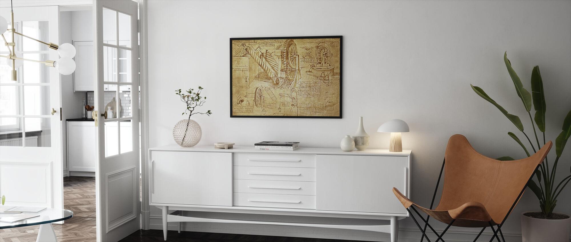Leonardo da Vinci - Atlanticus - Innrammet bilde - Stue