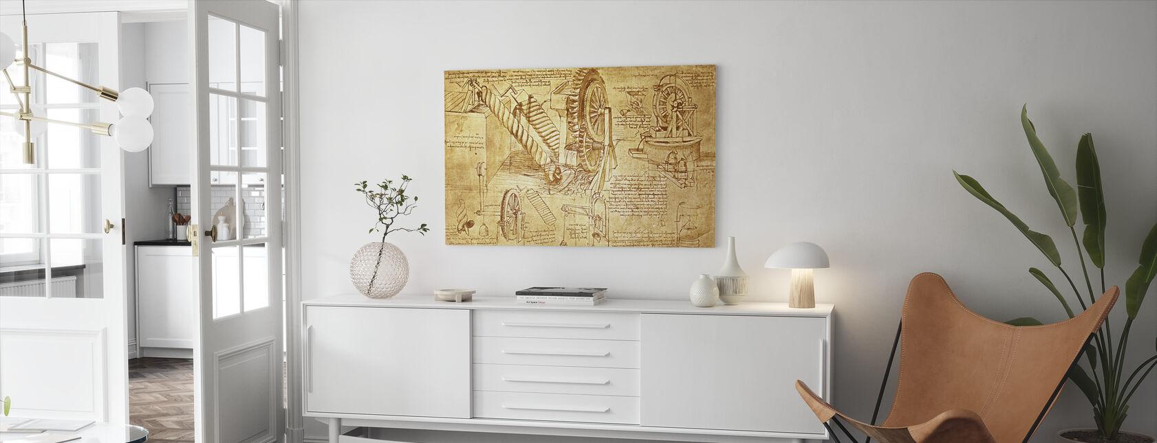 Leonardo da Vinci - Atlanticus - Canvas print - Woonkamer