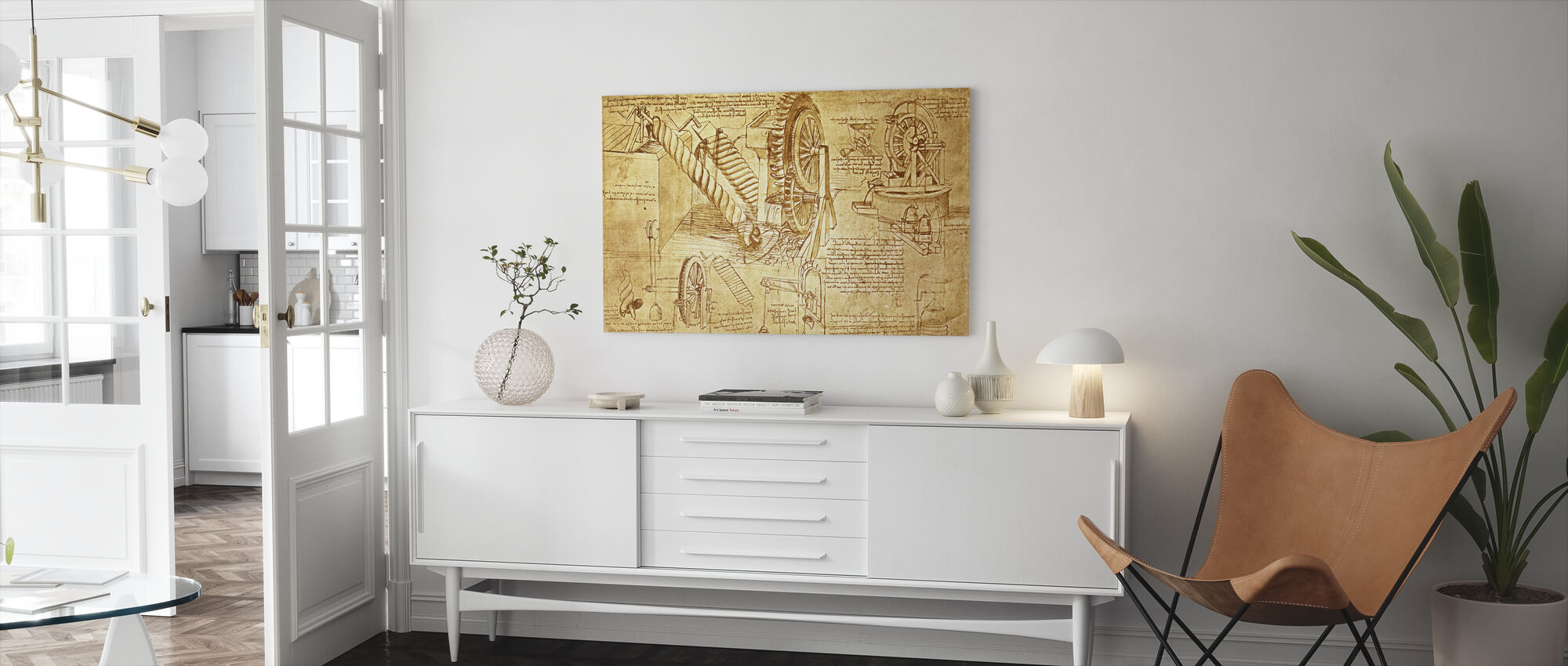 Leonardo da Vinci - Atlanticus - Canvas print - Living Room
