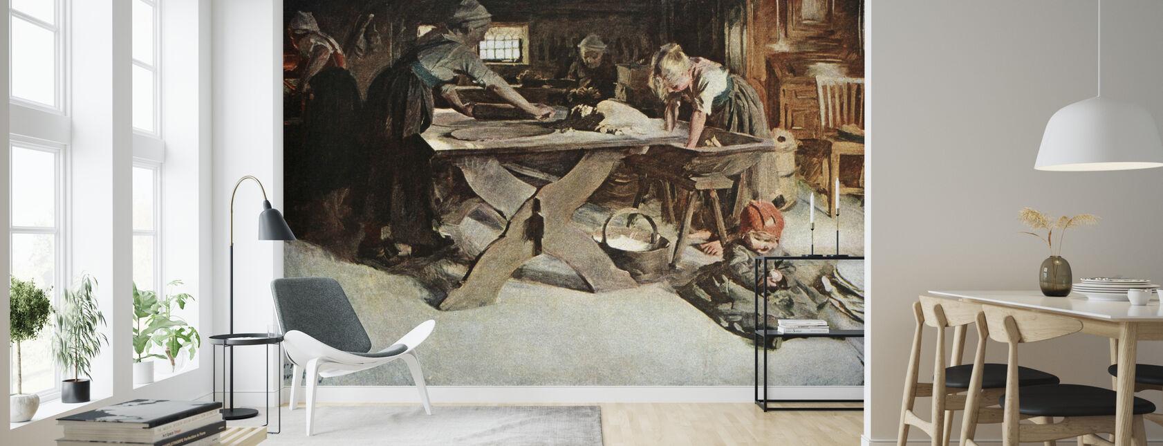 Anders Zorn - Bakningen - Wallpaper - Living Room