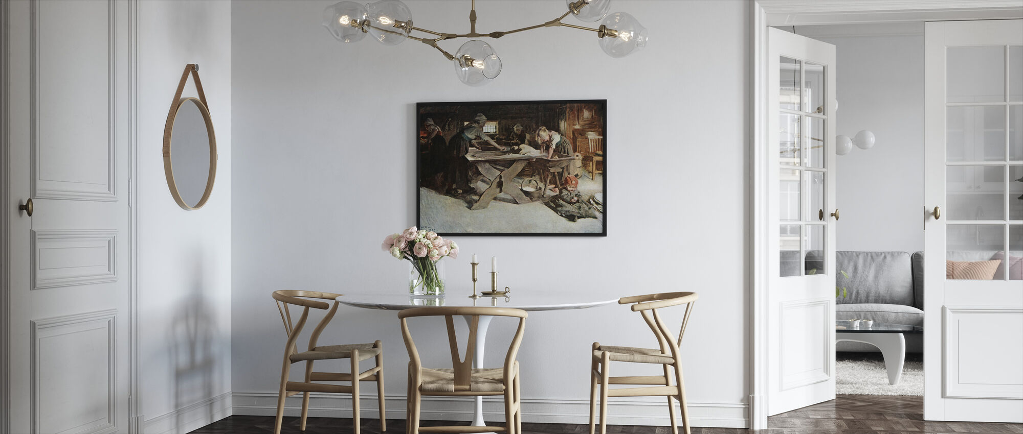 Anders Zorn - Bakningen - Kehystetty kuva - Keittiö
