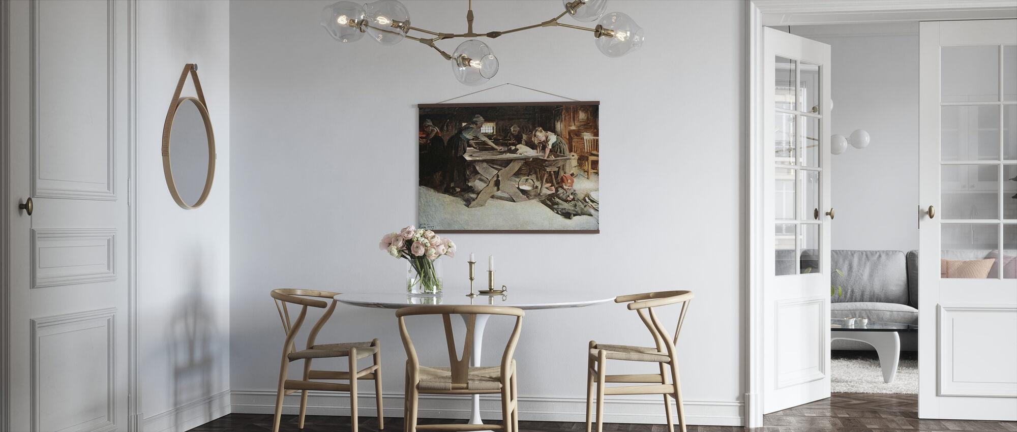 Anders Zorn - Bakningen - Plakat - Kjøkken