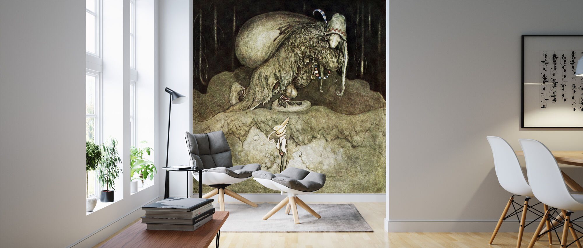 John Bauer - Trollskog - Wallpaper - Living Room