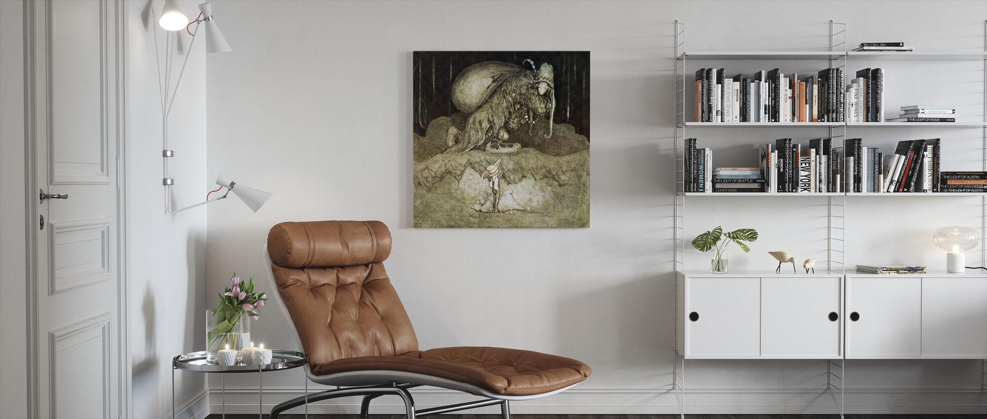 John Bauer - Trollskog - Canvas print - Living Room