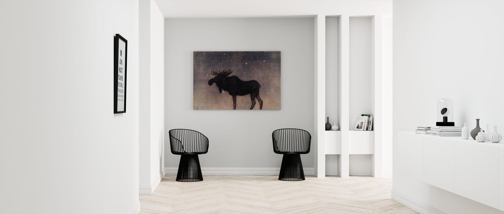 John Bauer - Älgtjuren - Canvastavla - Hall