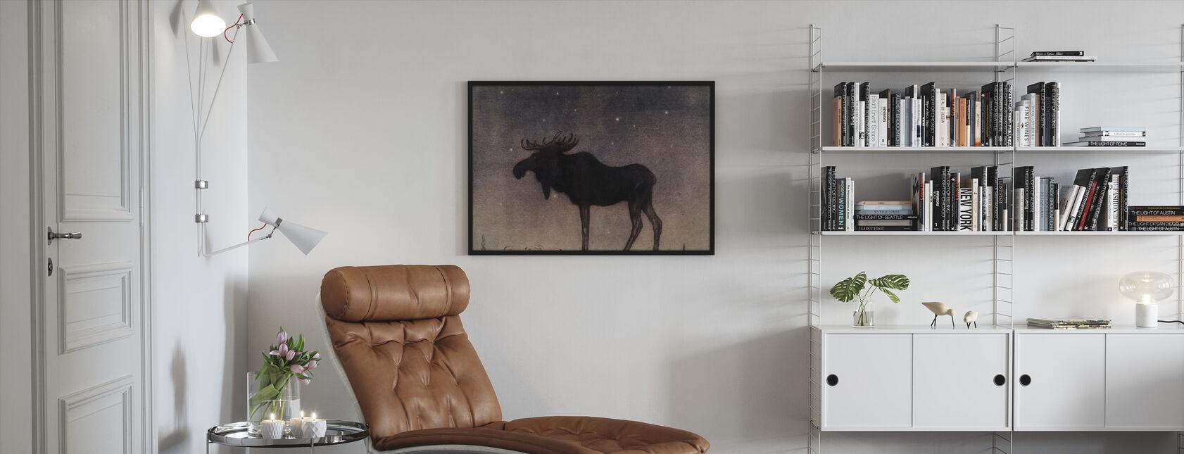 John Bauer - Älgtjuren - Innrammet bilde - Stue
