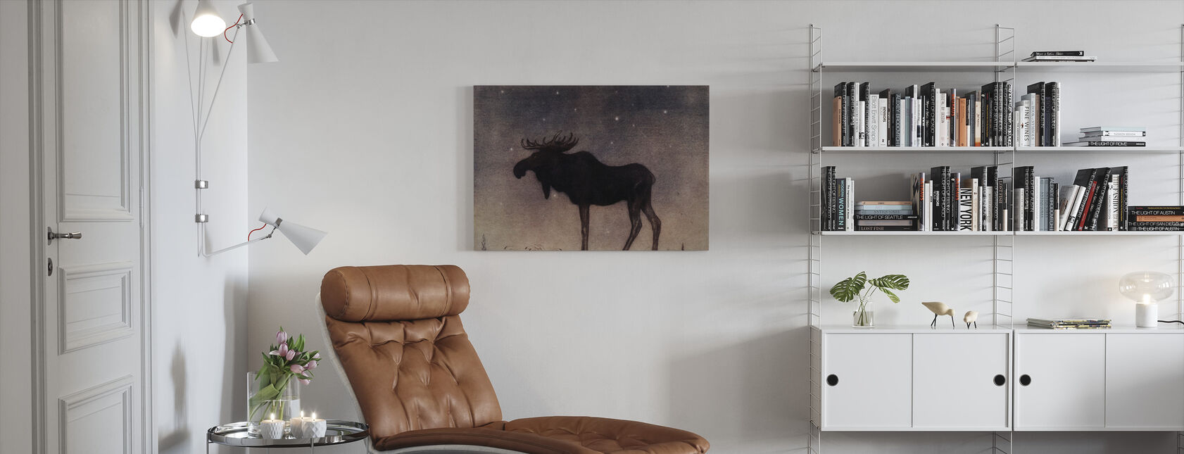 John Bauer - Älgtjuren - Canvastavla - Vardagsrum