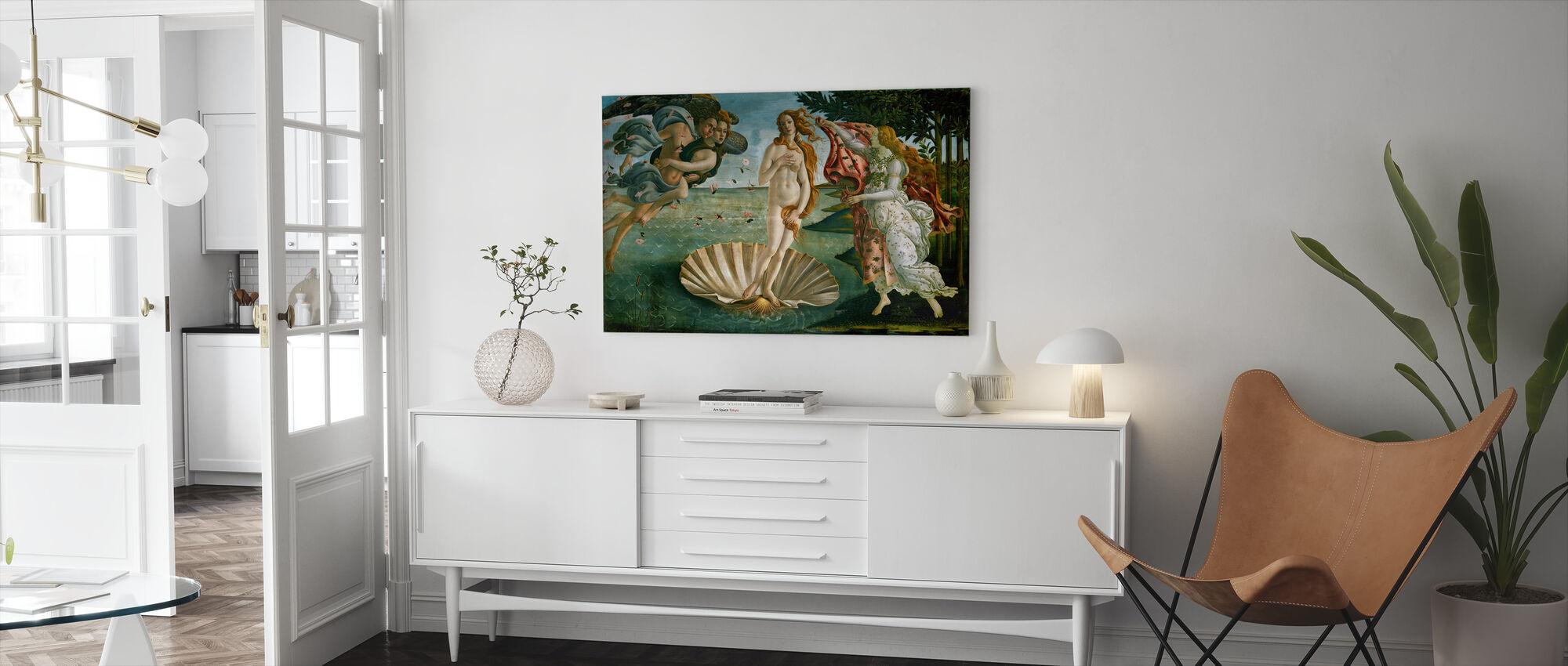 Sandro Botticelli - Geboorte van Venus - Canvas print - Woonkamer