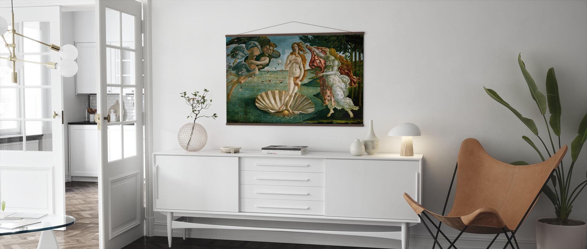 Sandro Botticelli - Venuksen syntymä - Juliste - Olohuone